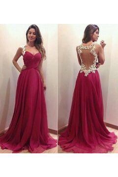 Burgandy prom dress - http://www.blackfridaydresses.com/m/2014-prom-dresses-straps-a-line-floor-length-with-applique