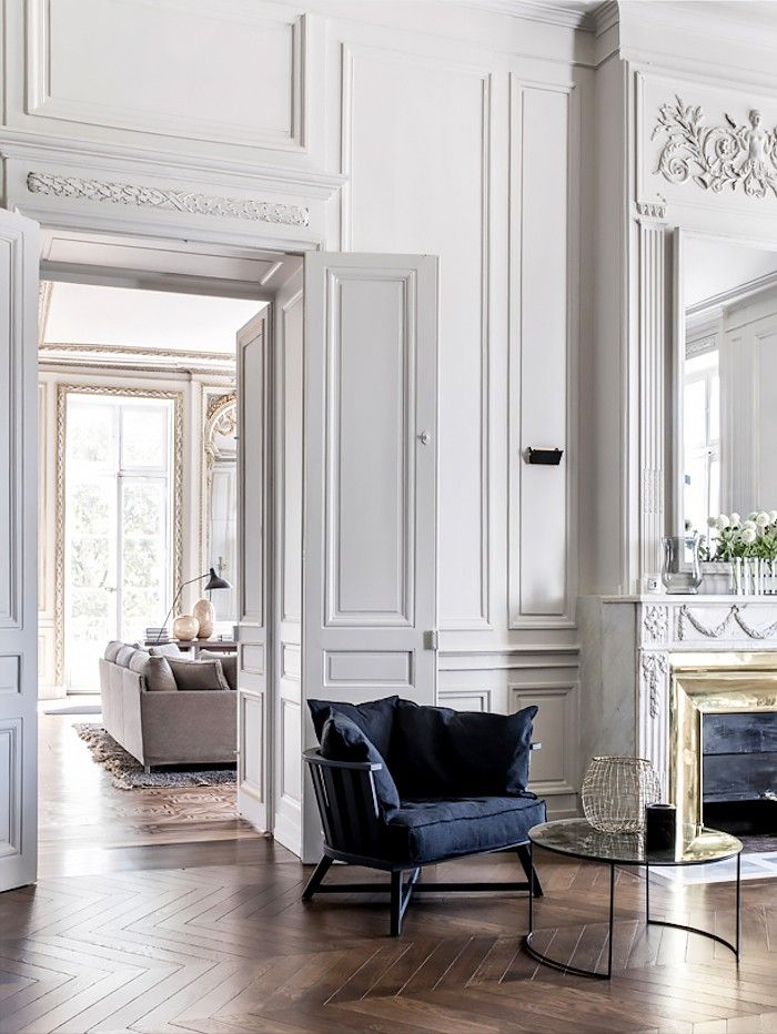 A Romantic French Home With All the Traditional Details We Love via @MyDomaine