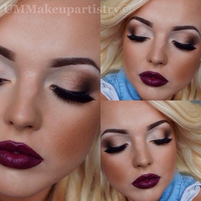 I like the eye shadow. Not your typical across the crease. Bold lashes.