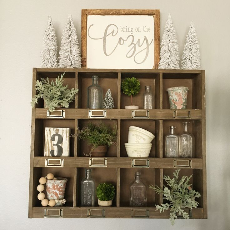 I Enjoy Decorating This Shelf From Hobby Lobby So Fun To Find Vintage Pieces