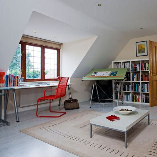 Attic solution suitable for a cape cod or a bungalow. Simple, yet fosters creativity. Actually thought of this Falls Church home for sale in particular. Needs some updates like this!
