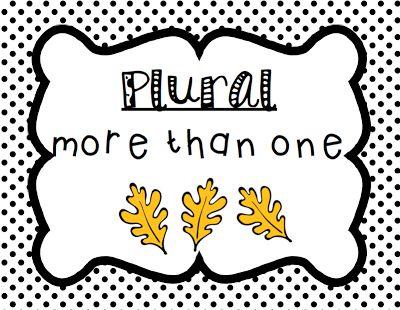 singular and plural word sort FREE