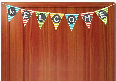 Chevron Teacher Welcome Banner- FREE Printbale