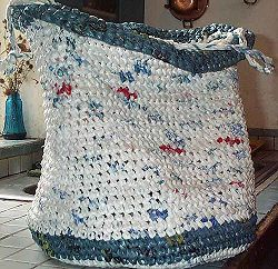 DIY Knit a Bag from Plastic Bags.  If you also want to know how to prepare plastic bags so that you can actual knit  them, here is a great How To http://www.wikihow.com/Prepare-Plastic-Bags-for-Knitting-or-Crochet