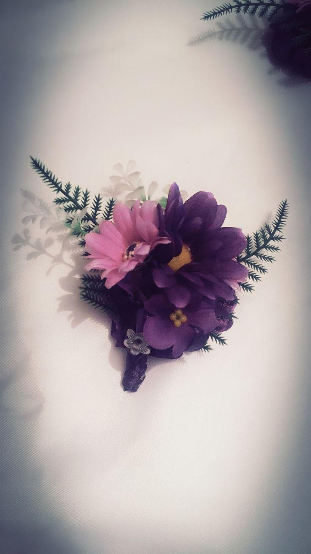 Corsage o pulsera de flores artificial para madrinas de boda