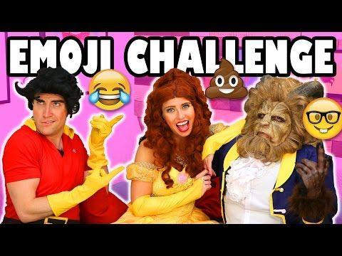 Emoji Challenge Belle vs Beast vs Gaston play Emoji Charades. Totally TV - YouTube