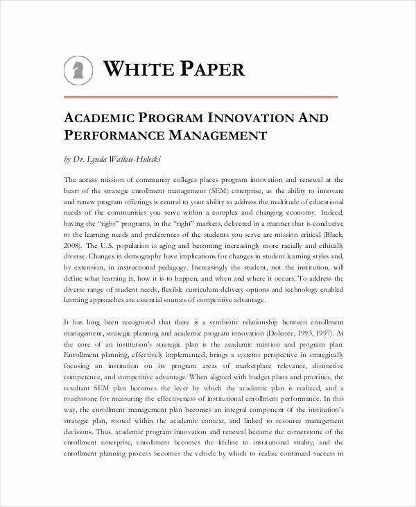 White Paper Outlinepreparation 1 Determine Audience A Resist