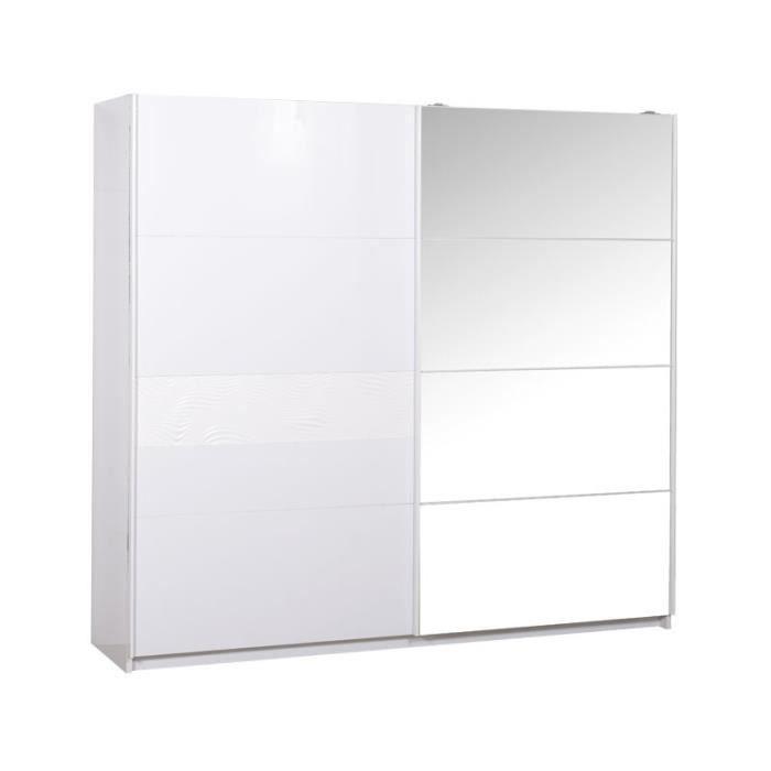 Armoires Portes Coulissantes Armoire 2 Portes Coulissantes Laqu Blanc Senya L 260 X L 65 X H Closet Dresser