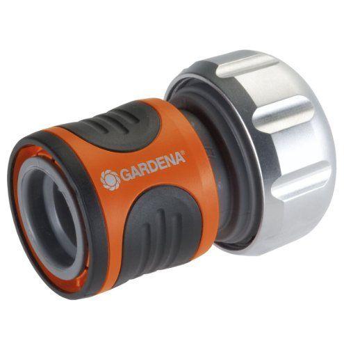 GARDENA RACCORD AQUASTOP 3/4 8169: Se monte à la fin du tuyau. Permet un branchement (et débranchement) rapide et facile des accessoires…