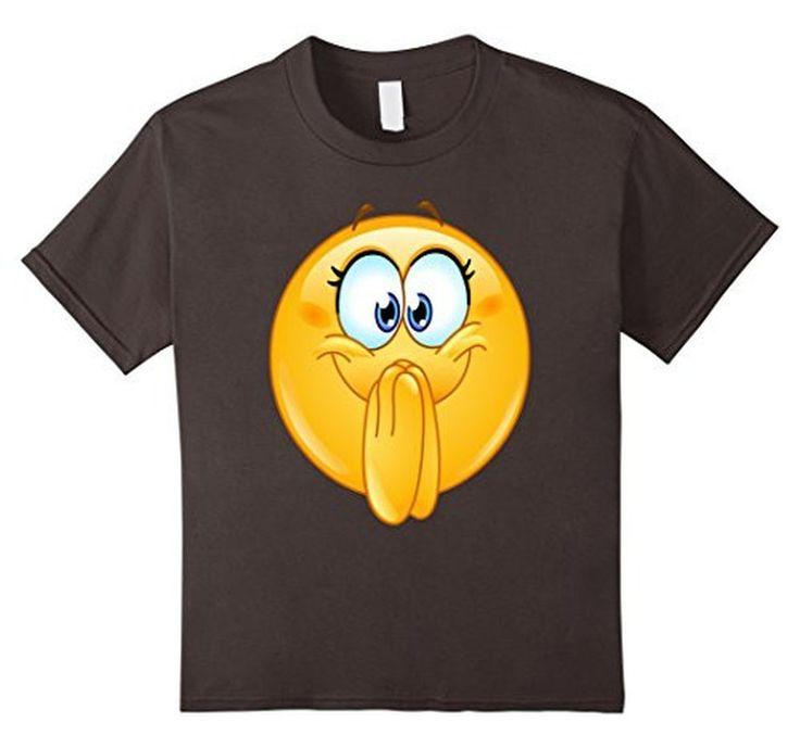 Women's Men's Emoji Excited Emoticon T-Shirt