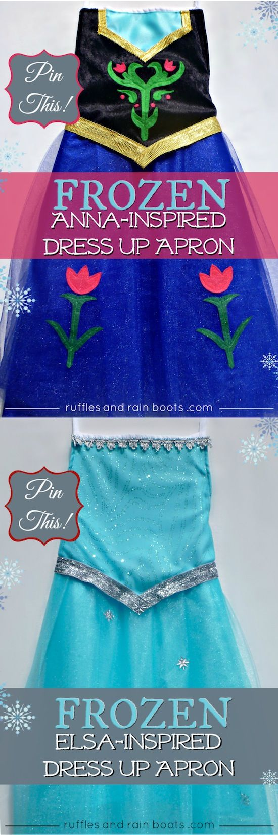 $20 DIY FROZEN COSTUMES by Ruffles and Rain Boots