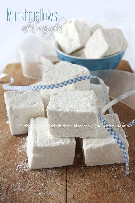 Marshmallows classici alla vaniglia fatti in casa