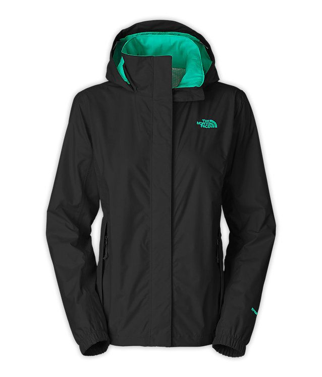 North Face Women's Resolve Jacket - In this BLACK & TEAL or the GRAY AND PINK in a small - this is adorable !