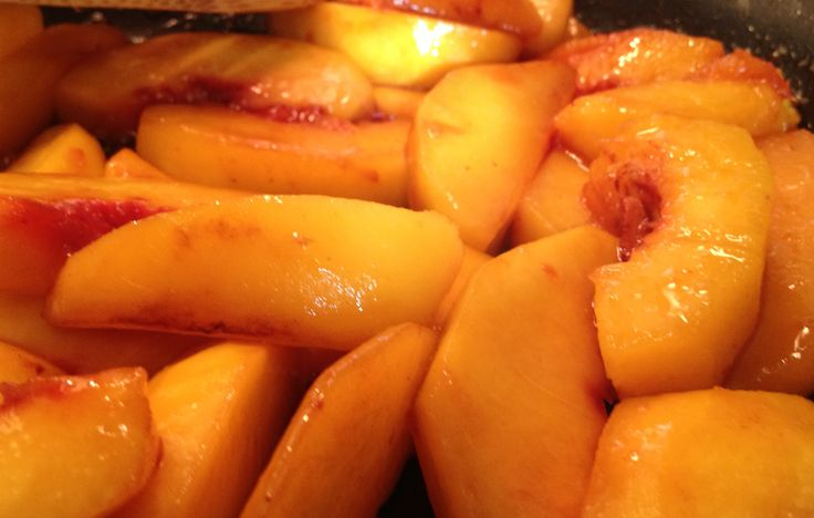 Very particular this recipe with exotic taste and definitely summer flavor . #Honey #Peaches