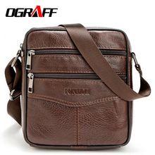 OGRAFF Men messenger bags luxury genuine leather men bag designer high quality shoulder bag casual zipper office bags for men(China (Mainland))