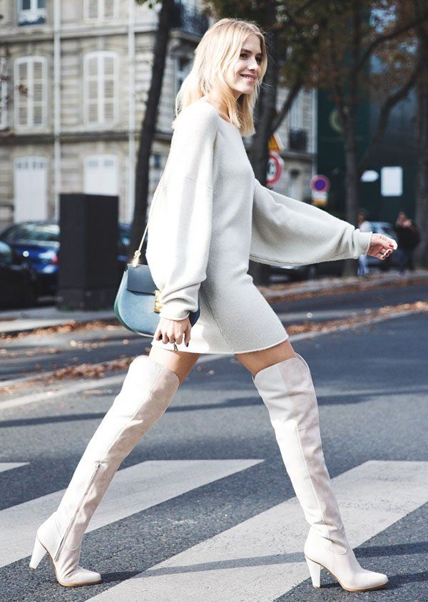 1000  ideas about White Boots on Pinterest | Blue boots ...
