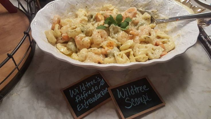Wildtree Wednesday:  Shrimp Scampi with Tortellini Alfredo