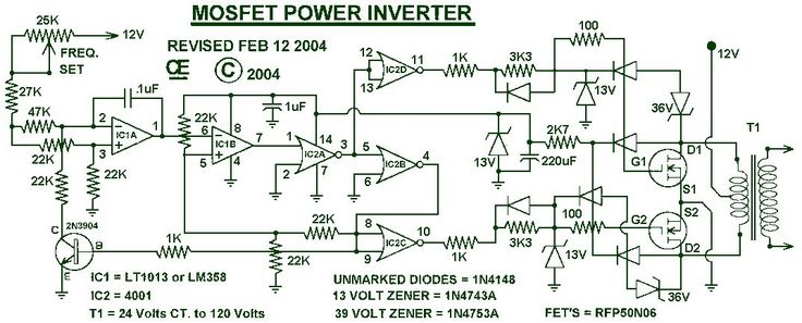 1000W Power Inverter circuit diagram This is the power inverter