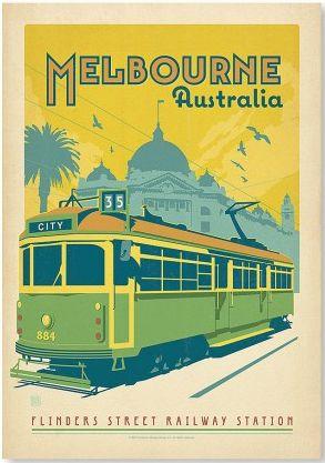 Melbourne - vintage poster