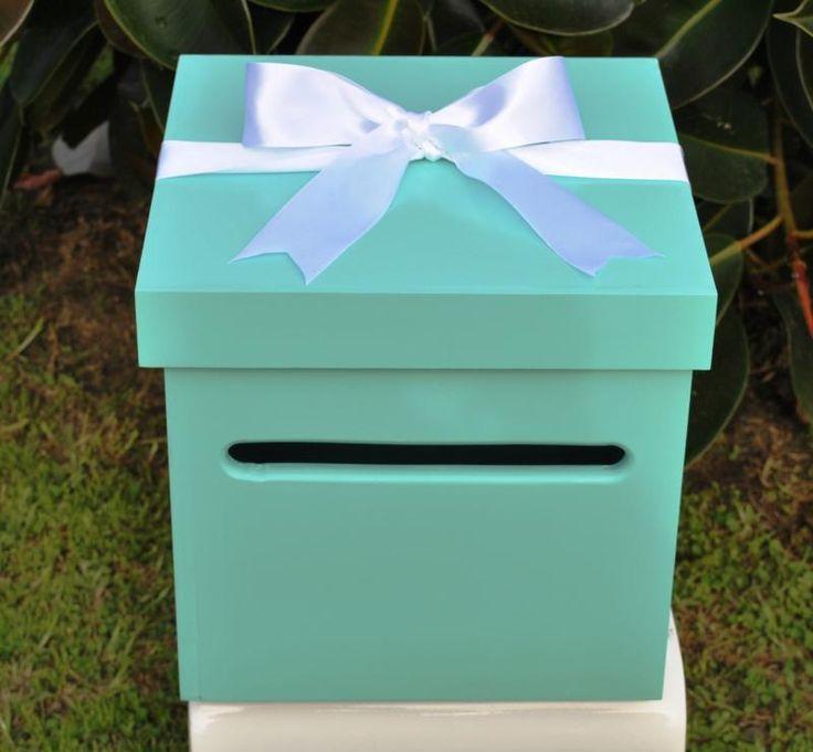 Wedding  Tiffany Inspired Wishing Well Box - WeddingWish.com.au