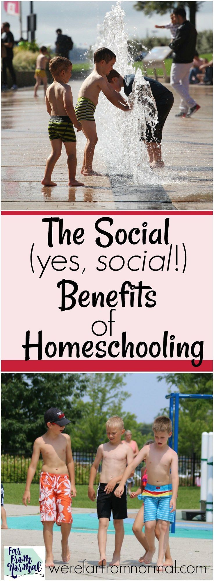 """What about socialization???"" It's the most common question asked of homeschoolers! What people don't understand is that homeschooling has amazing social benefits that help kids build friendships & have fun!"
