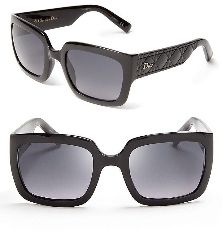 ce0f3e6d08 Christian Dior Modern Oversized Square Sunglasses