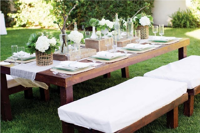white party rustic