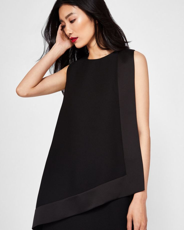 Double layer tunic dress - Black | Dresses | Ted Baker