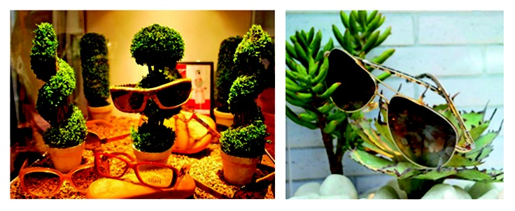 Unique #eyewear display. Perfect for a spring themed window display. #merchandising