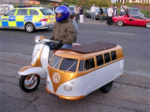 Well not two wheels but still cool.