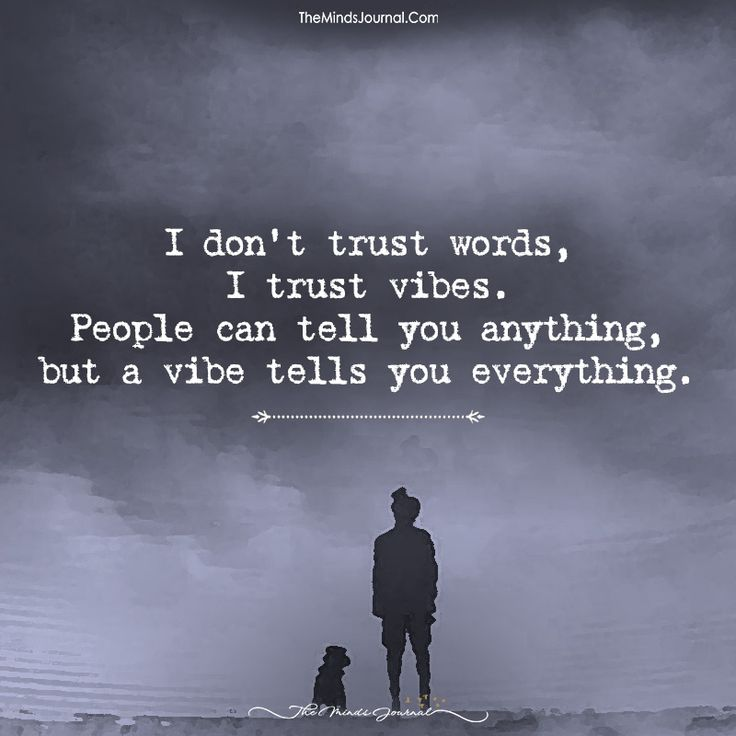 I Don't Trust Words, I Trust Vibes. - https://themindsjournal.com/dont-trust-words-trust-vibes/
