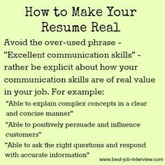How to Make your Resume Real