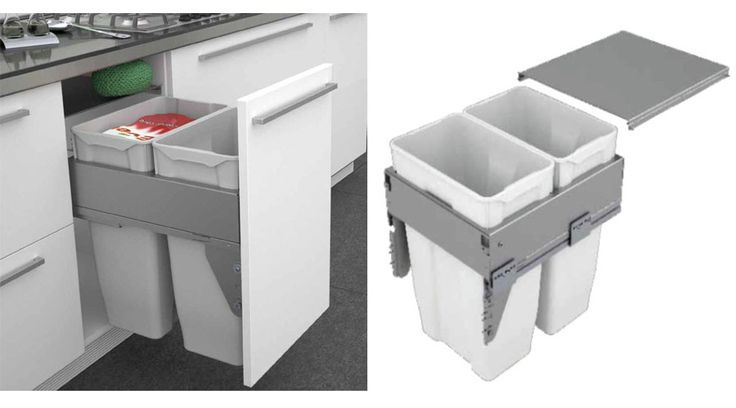 The Sige Quadrifoglio waste bin from Franci Furniture Fittings has been designed with a system that has multiple bin units for optimal recycling.
