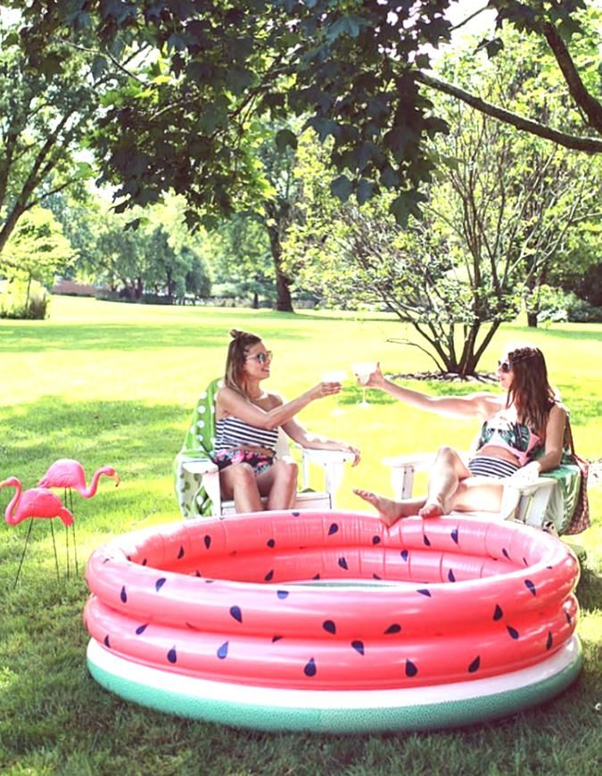 Minnidip The First Designer Inflatable Pool Watermelon Inflatable Pool Photo Laurlore In 2020 Inflatable Pool Summer Pool Floats Kiddie Pool