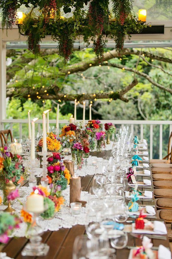 outdoor wedding reception photo by Calli