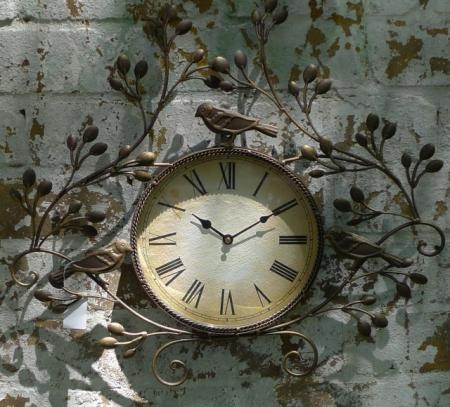 outdoor kitchen wall clock rustic french style