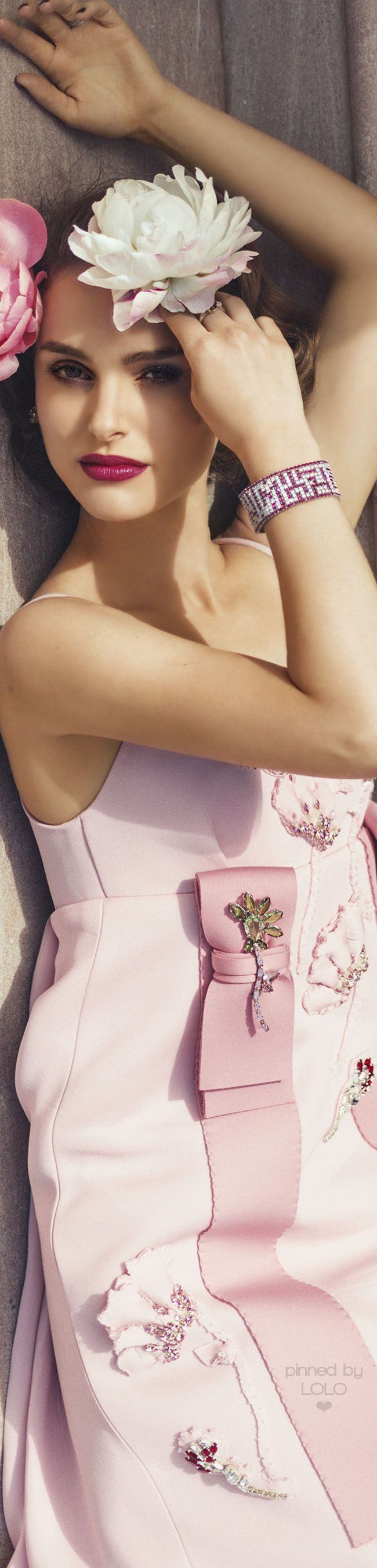 "Natalie Portman for Harper's Bazaar by Norman Jean Roy | LOLO❤ ~ ""Fleurissima Originale"""