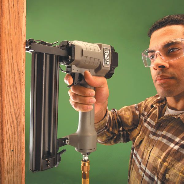 Learn to use a trim gun and you'll never want to pound another finish nail. A trim nailer will give you superior results with less effort.