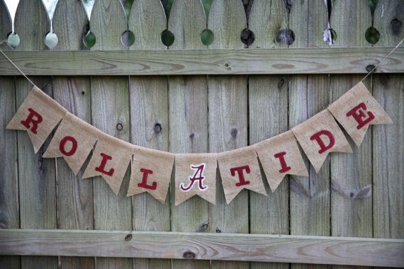 Roll Tide Burlap Banner / Alabama Banner / Roll by DLCraftyCute