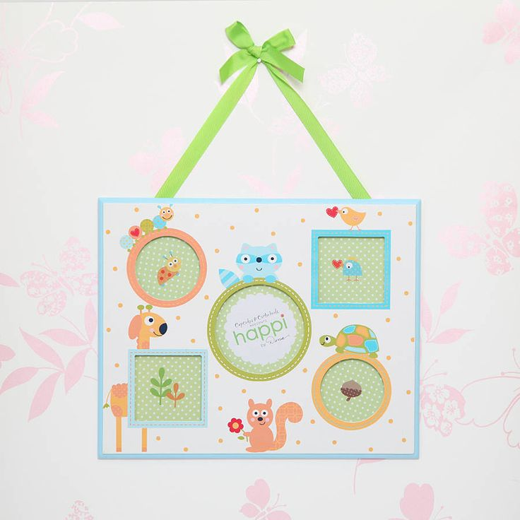 boy's hanging multi picture frame by red berry apple | notonthehighstreet.com