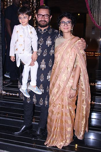 Aamir Khan & Kiran Rao in an Anavila saree.