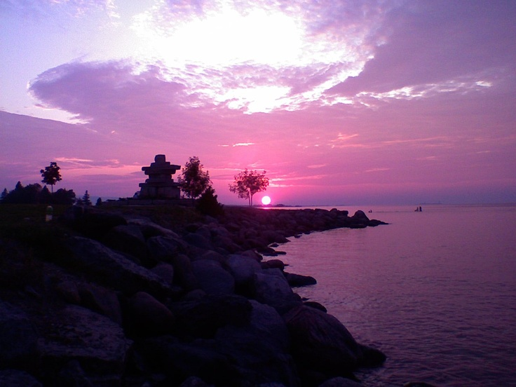 Sunset Point, Collingwood Ontario. I'm very surprised how well my cell cam worked to capture this one.