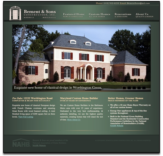 Website, logo, brochure, poster, and business cards for an awesome custom home builder