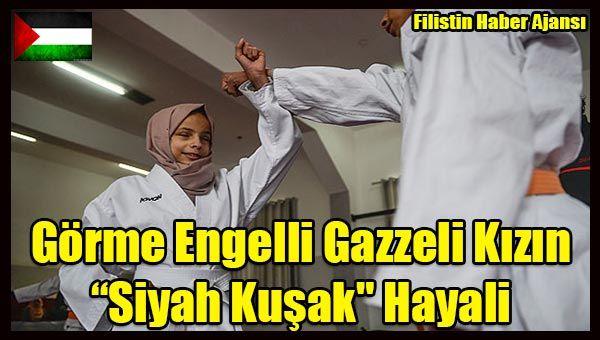 Gazze'de doğuştan görme engelli kız çocuğu Minnetullah el-Beytar, karatede ustalık seviyesi olan siyah kuşağa ulaşmayı hedefliyor.  Görme yetisinden tümüyle yoksun 13 yaşındaki Minnetullah,   #filistin gazze #filistin haber #gazze kız siyah kuşak #gazzeli küçük kız #siyonist israil