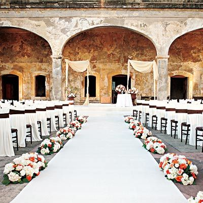 Beautiful Wedding Setting At Castillo De San Cristobal Fort In Old Juan Puerto Rico