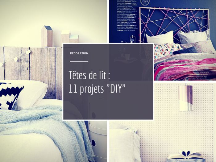 11 projets pour une t te de lit facile r aliser pour un. Black Bedroom Furniture Sets. Home Design Ideas