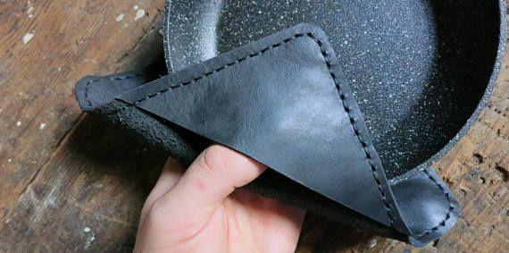 Stylish and modern hand-stitched leather pot
