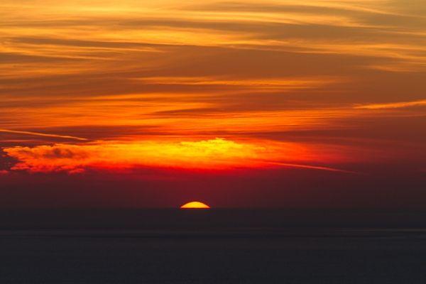 November sunset in Ios