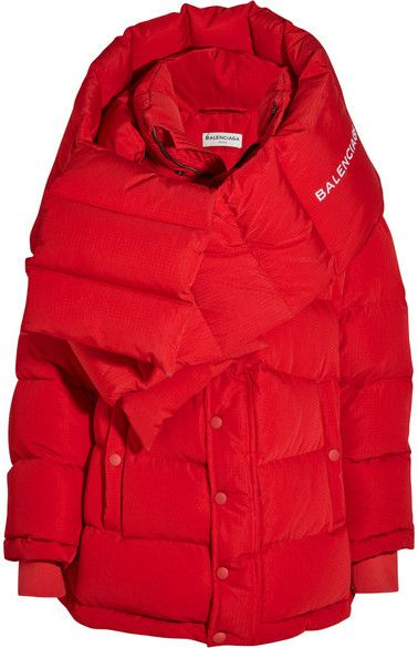 Balenciaga - Oversized Quilted Shell Jacket - Red