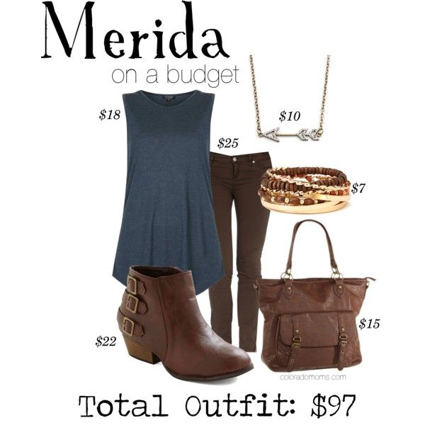 """Loved this one so much I bought it. """"Merida - On a Budget"""" by @ColoradoMoms.com on Polyvore"""